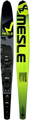 MESLE Monoski Freecarve 69\'\' mit D3 Leverage Blackout Bindung, Slalom Ski bis 120 kg, Tunnel Wasser-Ski für ambitionierte Slalom-Fahrer, mit Aluminium Finne, Länge 175 cm, grün, Größen:XL