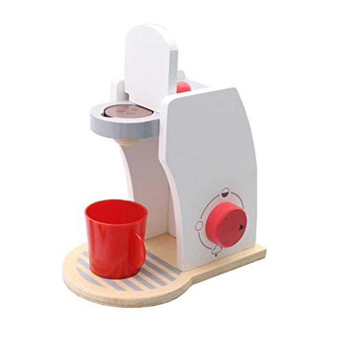 TRULIL Juegos de Juguetes para el hogar Juguetes de Madera Máquina de café Máquina de café Set para niños Juegos de imaginación Juguete de Madera Juguete de Cocina Juego Comida y Accesorios de Cocina