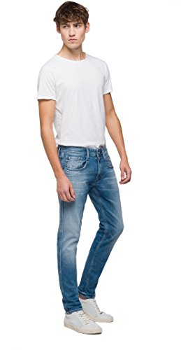 Replay Herren Slim Jeans Anbass Blau (Light Blue 10)
