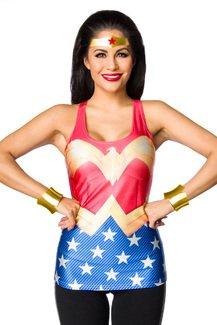 Sexy Superman maglietta Wonder Woman maglietta a maniche corte Wonderwomantop costume da T-maglietta sportiva Tank Held motivo supereroi