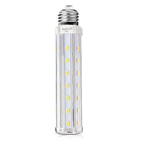 Ampoule Led E27 Mais 15W Blanc Froid équivalent à 100W,Lampe Led 220V 1500LM 6000k,Idéal Pour Applique Murale,Lampe De Table, Lustre, Porte d'entrée,Plafonnier,Chambre,Couloir,Angle de diffusion 360°