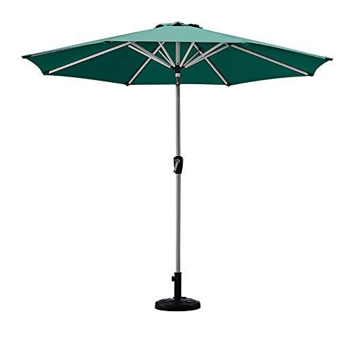 Tilt-taste (GuoWei-Sonnenschirm Marktschirm Gartenschirm Stahl Stange mit Kurbel Tilt-Taste Terrasse Draussen Sonnencreme Garten Patio, Ohne Sockel (Color : C, Size : Diameter - 8.85 feet (2.7m)))