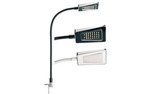 GedoTec® Flexible LED Leseleuchte Spotlampe Bettleuchte Modell GLORIA | 12V | kaltweiß 4000 K | IP20 - Markenqualität (schwarz) (12v Leseleuchte Flexible)