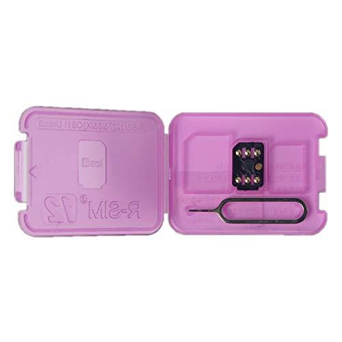 RSIM 12 Entsperrkarte Universal 4G Automatische Entsperrkarte für iPhone X / 8/7/6 / 6S Für iOS11 Plug & Play SIM-Kartenhalter (Iphone Unlock Gsm)