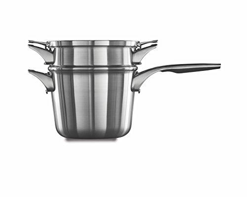 Calphalon Premier Platzsparendes Abendmahl-Set aus Edelstahl Sauce Pan + Double Boiler 4.5-quart edelstahl Sauce Pan Set