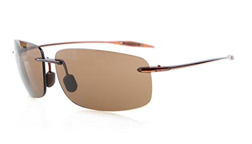 Eyekepper Randlos Sonnenbrille TR90 Unbreakable Rahmen Trogamid Nylon Linsee Braun Linse