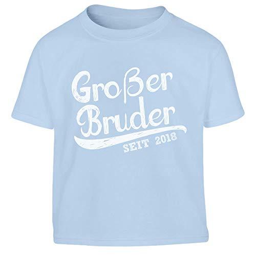 Geschenk Großer Bruder Seit 2018 Kleinkind Kinder T-Shirt – Gr. 86-116 86/94 (1-2J) Hellblau