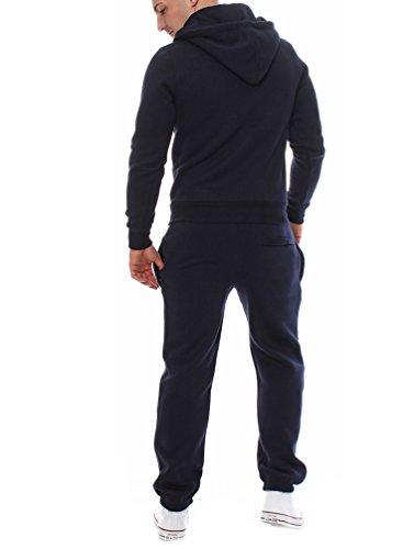 Yiiquan Uomo Felpe Giacche Cappotti Con Cappuccio Caldo Zip Cappotto Giacche Felpa Outwear 2PCS Set Marina Militare