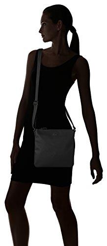 Lacoste NF2046WM, Borsa a Tracolla Donna, 25 x 2.5 x 26 cm Nero (Black)