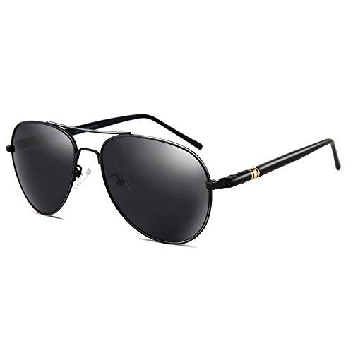 LLZTYJ Sonnenbrille/Positive Sonnenbrille Männlich Polarisator Fahren Pilot Brille Fahren Runde...