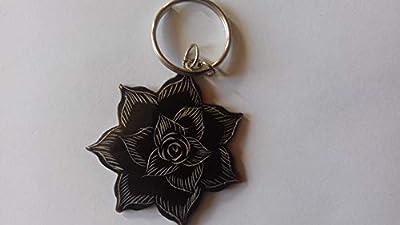 Porte-clés fleur
