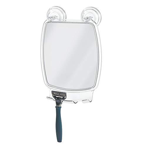 InterDesign Power Lock Espejo de baño para afeitarse, espejo de maquillaje rectangular en plástico...