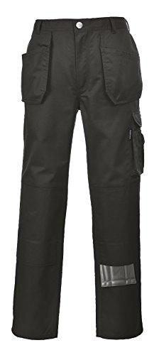 Portwest KS15 - Pantalones de pizarra, color Negro, talla XL