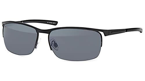 BEZLIT Herren Sonnenbrille Designer Sonnenbrillen Biker Brille 473 Schwarz