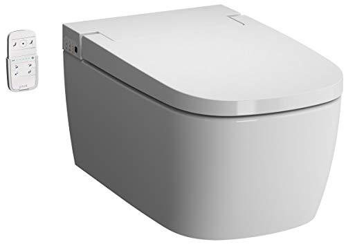 Über Kommerzielle Wasser (Vitra V-CARE Basic spülrandlos mit Bidetfunktion, Taharet, Taharat Dusch WC inkl. Softclose WC-Sitz)