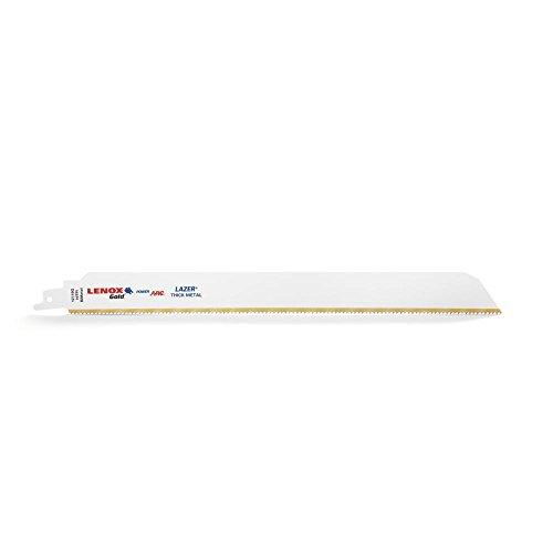 Tpi Bi-metal Reciprocating Saw (Lenox Tools 2110012110GR 304mm 10TPI Gold Power Arc Säbelsägeblatt für dicke Metall schneiden (5Stück))