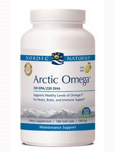 Arctic Cod Liver Oil Soft Gels, Lemon Flavored, 1000 mg, 180 Soft Gels - Nordic Naturals