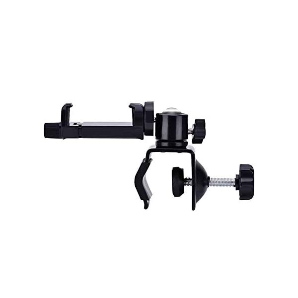"""Eurobuy Baby Camera Monitor Mount, 360 Degrees Rotatable Adjustable Holder, Keep Your Baby in Sight, Suitable for Most Baby Monitors Equipment Eurobuy ☺【Always Keep An Eye On Your Baby】- This upgraded baby camera mount adopts cardan joint and supports 360 degree rotation, helps you take better care of your care. ☺【Compatible With Most Cameras】- With a adjustable mount, suitable for camera bottom diameters from 52mm to 100mm, as well as baby cameras with 1/4"""" threaded or tripod mount. ☺【Protective Guard & Anti-skid Silicone Pad】- Protective guards of clip help to hold the camera more stable and firmly; Soft anti-skid silicone pas to protect your device from scratches. 2"""