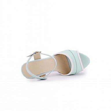 LvYuan Da donna Sandali Finta pelle PU (Poliuretano) Estate Autunno Footing Fibbia A stiletto Bianco Viola Rosso Blu 10 - 12 cm Blue