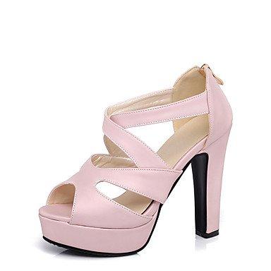 LFNLYX Donna Sandali Primavera Estate Autunno altri PU Party & abito da sera Casual Chunky Heel altri nero Rosa Bianco Beige Pink