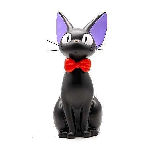 ZSTCO Kiki Lieferservice Katzen Figuren mit Geld Münze Sparschwein Action Figure Schwarze Katzen Spielzeug für Heimtextilien Kind, A - Handbemalte Mini-lampe