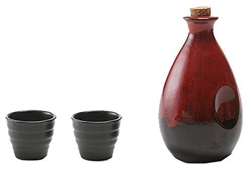 Black Temptation Bouteille de vin en céramique de Style Ancien mis en Verre Set de vin de saké-Y1