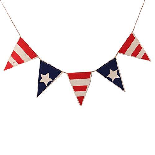 YoungerY USA-Flaggen-Wimpel-Flaggen-Fahnen-Unabhängigkeitstag-Erntedankfest-amerikanische Nationaltag-Partei-Dekoration