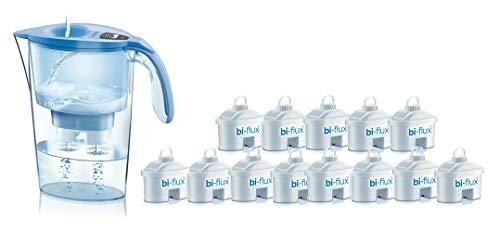 Laica j9074a1: 1 caraffa filtrante e 13 filtri bi-flux, lavanda, 2.3 litri totali, 1.2 litri filtrati