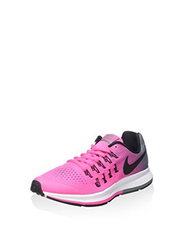 Nike Zoom Pegasus 33 (Gs), Chaussures de Sport Fille, Talla Unica Rosa (Rosa (Pink Blast / Black-Cl Grey-White))