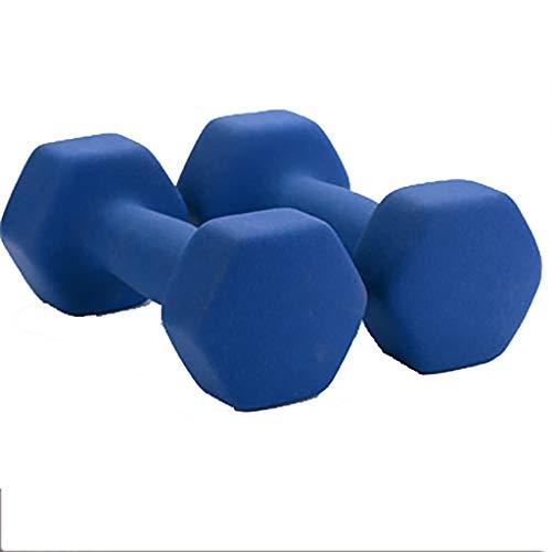 WSC Mancuerna Azul, Hexágono de Goma 6 Lbs, 8 Lbs, 13 Lbs, 17 Lbs, 22 Lbs (Size : 3KG)