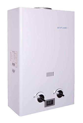 Benflame®-1 Gasdurchlauferhitzer für Propan- oder Butangas Kapazität 6L / 12kW