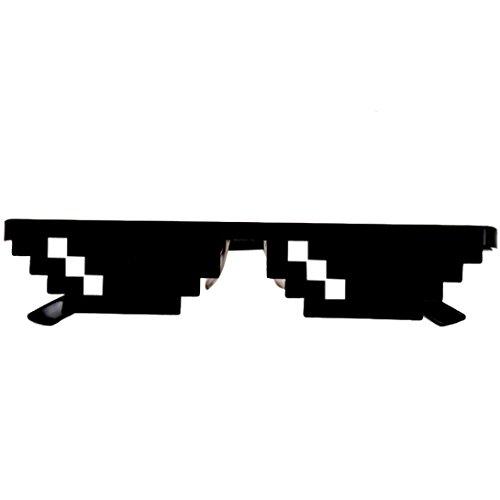 Unisex Sonnenbrille Spielzeug , Frashing Thug Life Brille 8 Bit Pixel Deal mit IT Sonnenbrille Unisex Sonnenbrille Spielzeug (Kostüm Baby Puppe Troll)