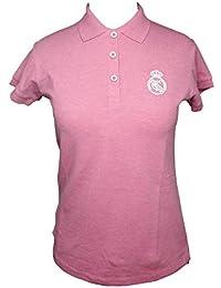 Polo Real Madrid Mujer Rosa/Blanco  Talla L
