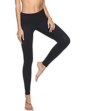Guiran Mujer Leggings Pantalón Deportivo Skinny Pantalones Elastico Cintura Altura Polainas para Running