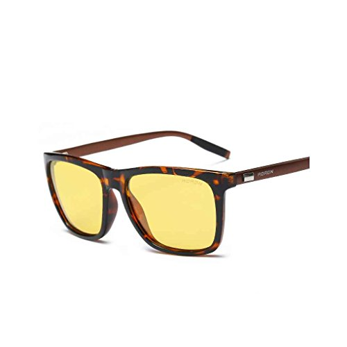 Junecat Männer Frauen Unisex polarisierten Sonnenbrillen Legierung quadratisches Feld UV400 Schutz im Freien Sonnenbrille
