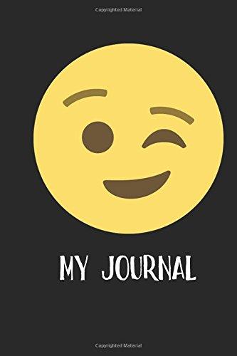 My Journal: Winking Face Emoji - Blank Lined Notebook - 6x9 (Winking Girl)