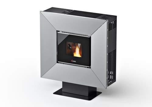 CADEL Cloe³ Pelletofen 6,5 kW Pellet Ofen Cloe-Metall-Silber