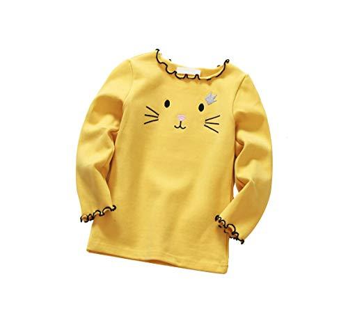 DEBAIJIA Bambino Neonata Camicia Bluse Camicette Ragazza Maniche Lunghe Magliette Tops T Shirt Carino Mantieni Caldo Ricamo di Cotone Morbido
