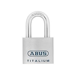 ABUS Mechanische 96ti/50kA 7566Titanium Open Bügel Vorhängeschloss, 50mm (6Stück)