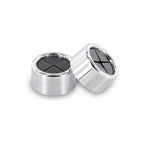 be fancy! 2 Premium Handtuchhalter - Geschirrtuchhalter - selbstklebend - ohne Bohren - verchromt - 4,2 cm x 2,2 cm - im Set