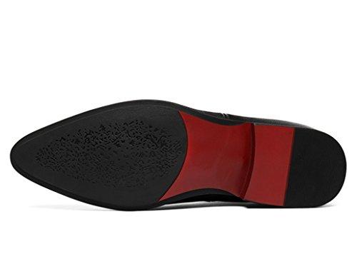Scarpe Uomo in Pelle Scarpe in pelle da uomo Scarpe alte con punta Stivali stile Martin a punta inglese ( Colore : Nero , dimensioni : EU 41/UK7 ) Nero