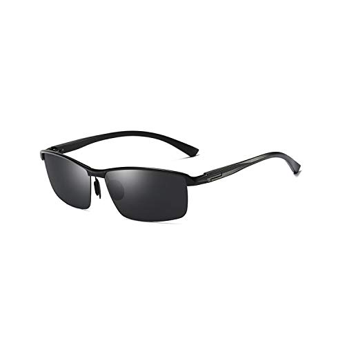Sport-Sonnenbrillen, Vintage Sonnenbrillen, Brand Designer Aluminum Magnesium Polarisiert Sunglasses Men Fishing Driving Sun Glasses Eyewear Gafas De Sol PA1017 C1 Black black