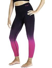 Xaed I101076-001 Pantalones, Mujer, Negro/Fucsia, S