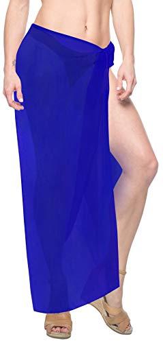 LA LEELA Badeanzug Sarong Wickeln Bademoden Bademoden Badeanzug verschleiern Pareo Rock blau