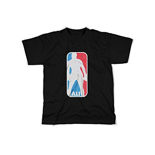 licaso Herren T-Shirt mit Ali Basketball Sport Aufdruck in Black Gr. XXXXL Design Top Shirt Herren Basic 100% Baumwolle Kurzarm -