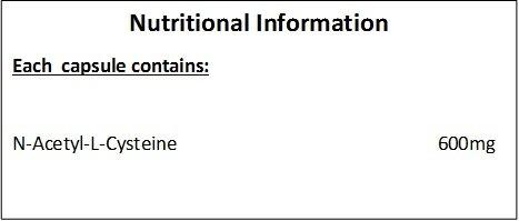 Hellenia N-Acetyl-Cysteine 600mg | 120 Capsules | Vegan NAC Supplement | Manufactured in The UK