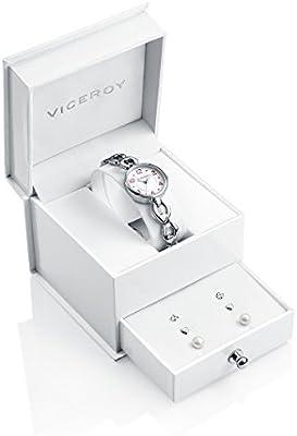 Conjunto Reloj Viceroy Niña Comunión 40946-05 Tres Pendientes Plata