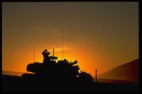 414041 M1 Abrams Main Battle Tank At Sunrise A4 Photo Poster Print 10x8