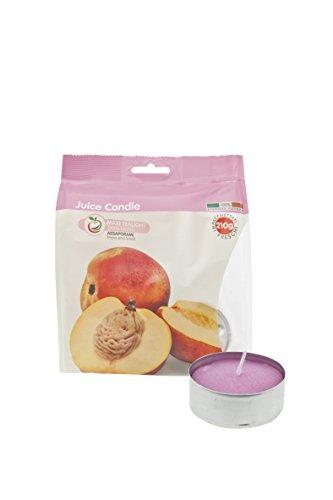 Scheda dettagliata Cereria di Giorgio Succo di Candela Maxi Tealight Profumati alla Frutta, Cera, Lilla, 5.9x5.9x2.3 cm, 5 unità