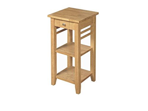 Oak Finish Solid Wood Telephone Table / Hard Wood Lamp Table 1 Drawer / Oak  Finish End Table / Living Room Furniture Part 98
